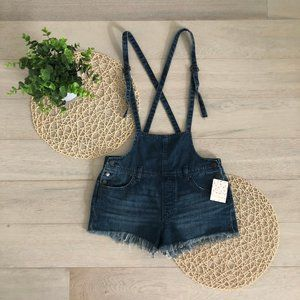 Free People Strappy Denim Short Overalls Size 27
